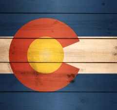 Colorado Flag US State Wood XL