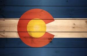 Colorado Flag US State Wood XL